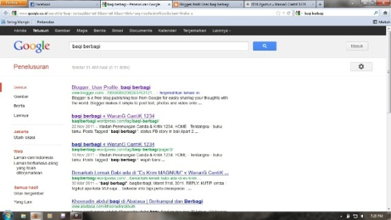 baqi berbagi nomer satu di google