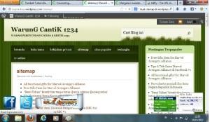 hasil sitemap wordpress